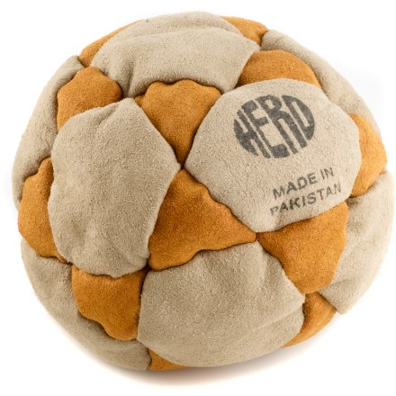 Camp and Hike The Adventure Imports Hero Hack footbag features 32 panels loosely filled with sand for maximum playability. Show off your footbag tricks! Loose sand fill offers the ideal weight for performing difficult tricks. Soft, durable imitation suede comes in assorted color combinations. Comes in assorted colors only; sorry, specific color requests cannot be accommodated. - $8.00