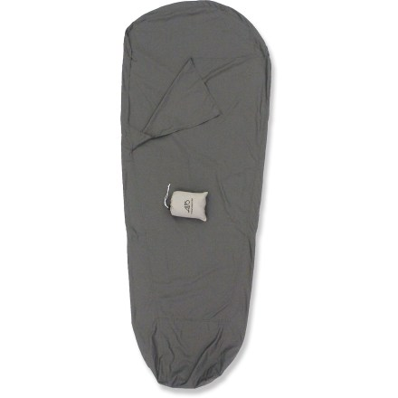 Camp and Hike The Alps sleeping bag liner helps extend the life of your mummy-shape sleeping bag and adds a few degrees of warmth. - $18.73
