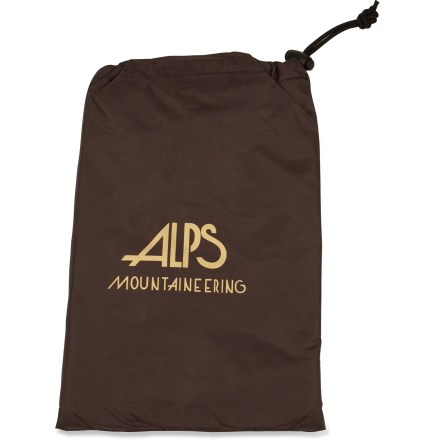 Camp and Hike The 4-person Floor Saver Tent Footprint from ALPS Mountaineering protects the floor of your tent from abrasion and wear. Intended to be just a tad smaller than the tent floor to prevent pooling of water under tent during rainy weather. Comes in a stuff sack with draw cord and toggle closure. Special buy. - $29.73