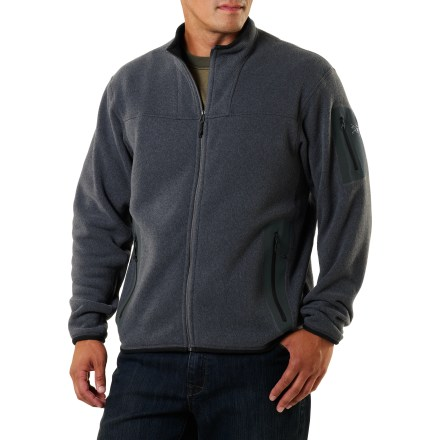 Camp and Hike The men's Covert Cardigan from Arc'teryx provides cozy warmth and outstanding style. A relaxed fit ensures this classic jacket will be one of your all-time favorites. - $88.83