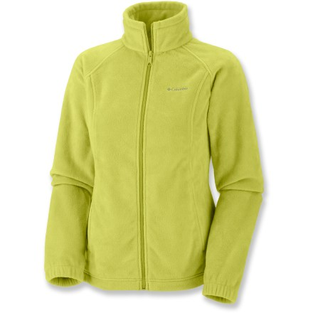 Camp and Hike The Columbia Benton Springs(TM) Full-Zip jacket adds midweight warmth to any situation with cozy fleece that you'll snuggle into and never want to take off. - $16.83