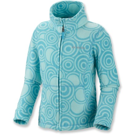 The Columbia Explorer's DelightTM Printed Fleece jacket keeps her cozy while fun colors and patterns brighten any wardrobe. Omni-WickTM technology keeps her dry even under multiple layers. - $16.83