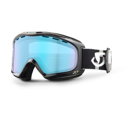 Ski The Giro Signal snow goggles feature an injection-molded cylindrical lens for distortion-free optical performance on the slopes. Goggles are designed to offer an optimal fit around facial anatomy, resulting in excellent comfort and helmet compatibility. Injection-molded cylindrical lens offers a wide field of vision with minimal distortion. Vents in lens above the gasket provide an escape route for moisture; antifog coating reduces moisture buildup on inside of goggles. Plush, dual-layered face foam seals out the elements and is finished with a soft, moisture-wicking microfleece. Persimmon Boost lens combines a gray tint with a multilayer flash for crisp detail and depth perception in low light; allows 52% visible light transmission. Giro Signal snow goggles are designed to fit medium-size faces. - $55.93