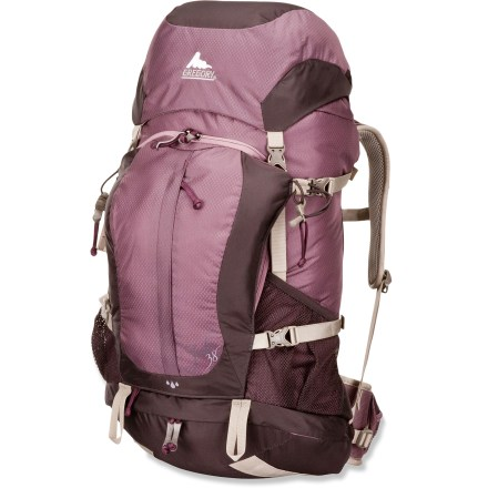 Camp and Hike The women's Gregory Jade 38 pack offers great comfort and performance while keeping your back cool and your load light on quick overnight trips or long day hikes. - $84.83