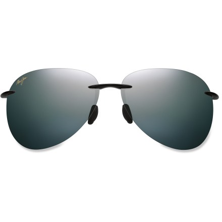 Entertainment Inspired by the pristine sands of Hawaii, Maui Jim Sugar Beach polarized sunglasses feature a rimless frame and contemporary aviator lenses for a classic look. - $169.00