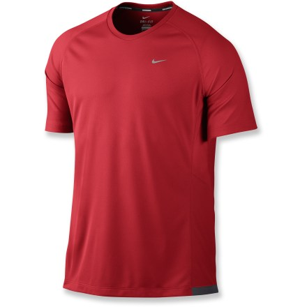 Fitness The Nike Miler UV crew shirt offers recycled fabric, comfort on the run and protection from the sun. - $18.83