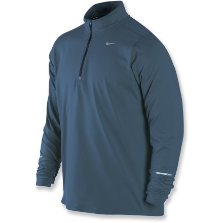 Fitness The Nike Element Half-Zip top wicks away sweat while adding lightweight warmth, offering the comfort needed to run hard and earn some endorphins in any weather. - $31.83