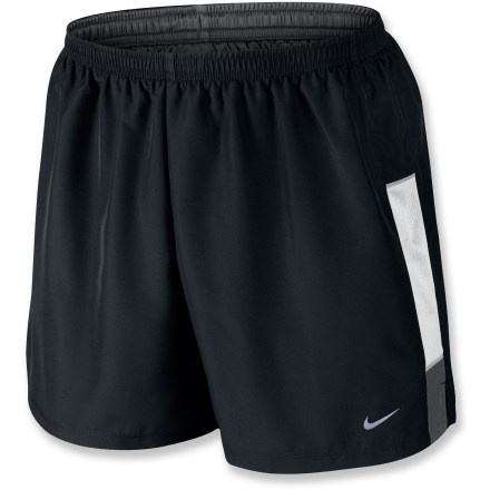 Fitness A comfortable liner makes the Nike Five-Inch Woven Reflective shorts a perfect solution for everyday workouts. - $15.83