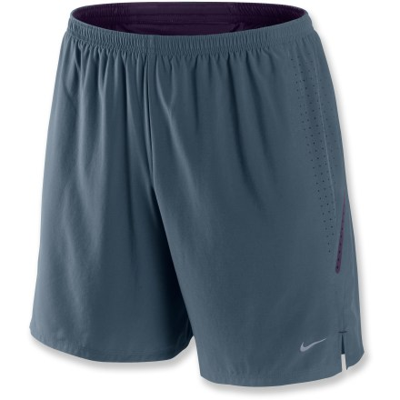Fitness Plenty of coverage and a comfortable liner make the Nike Seven-Inch Laser Perforated shorts a perfect choice for everyday workouts. Dri-FIT(R) fabric wicks away moisture, dries quickly and encourages cooling ventilation. Liner fabric offers additional wicking and drying power; fabric is partially recycled. Elastic waist with drawcord ensures the perfect fit. Rear zippered pocket stores accessories. The Nike Seven-Inch Laser Perforated shorts offer a relaxed fit. - $28.83