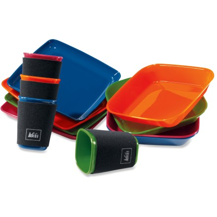 Camp and Hike With place settings for 4, the REI Campware Group Tableware set equips your family for a fine dining experience on your next camping trip. - $34.50