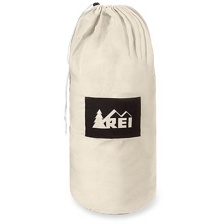 Camp and Hike Lengthen the life of your sleeping bag by storing it uncompressed in this large poly/cotton bag. - $14.95