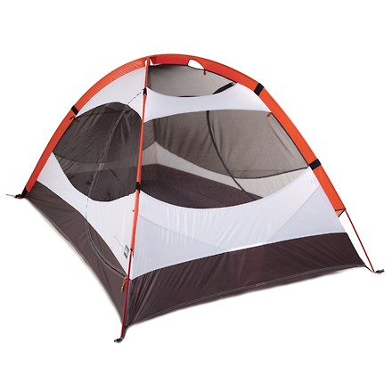 Camp and Hike The Quarter Dome UL tent from REI is light, easy to set up, and roomy enough for you and a friend-everything you need from a backpacking tent! Designed for those who want to shed pounds from their pack and don't mind sacrificing a little elbow room. Low, wind-shedding, 2-pole design features 2 doors and 2 vestibules for super-convenient entry/exit and ample separate storage areas. Dead End pole sleeves allow a nearly instant setup. Rpi-and-stick closure attachment under the rainfly allows you to keep the rainfly attached to the tent for an even swifter setup. Lightweight materials, combined with tough floor and pole sleeve materials, deliver a lighter tent without sacrificing durability. Lightweight nylon ripstop rainfly offers durability and weight savings; silicon treatment gives long-lasting weatherproofness. DAC Featherlite(R) SL poles offer a superb strength-to-weight ratio and slide easily in and out of pole sleeves. Insider floor seams are engineered to create a nice, clean taut pitch and maximize floor space; factory seam-taping ensures a waterproof seal. No-see-um mesh panels throughout and no-see-um mesh front and rear windows allow cross-ventilation, preventing condensation. Strategically placed vestibule roof vent allows excellent airflow to prevent condensation; can be accessed while sitting inside the tent. Rainfly rolls up and secures half-way open for extensive views to the outside; if the weather changes, it quickly and easily rolls down into place. Color-coded rainfly corners allow easy orientation of rainfly on tent. Leak-proof rainfly construction ensures that water won't sneak through susceptible areas such as guy-out points and zippers in wet conditions. Attention to detail shows in the reflective guy points and zipper pulls, and adjustable REI Cleat Lock tie-downs on vestibules. - $199.73