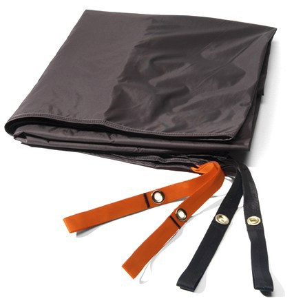 Camp and Hike The REI Chrysalis UL footprint protects the floor of your tent. Sized a bit smaller than tent floor to prevent pooling of water between tent and ground sheet during wet weather. Attaches easily underneath tent with bartacked elastic loops. Special buy. - $14.73