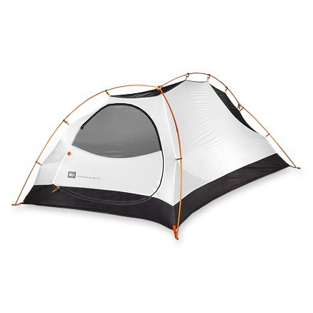 Camp and Hike The REI Chrysalis UL tent, built for solo backpacking, offers plenty of room without weighing you down. Freestanding REI Chrysalis uses ultralight, silicone-coated nylon fabrics and lightweight aluminum poles. Single door features a vestibule that doesn't skimp on space for gear storage. Lightweight ripstop nylon rainfly offers durability and weight savings; silicone treatment gives long-lasting weatherproofness. Strategically placed vestibule roof vent allows excellent airflow to prevent condensation; can be accessed while sitting inside the tent. No-see-um mesh panels and no-see-um mesh door allow cross-ventilation, preventing condensation. Hub-pole system is easy to use; DAC SL Featherlite(R) poles save weight. Color-coded rainfly corners allow easy orientation of rainfly on tent for fast, easy setup. Leakproof rainfly ensures that water won't sneak through susceptible areas, such as guyout points and zippers. Main zipper flap is stiffened with polyurethane which makes it more leakproof and prevents snagging. Attention to detail shows in the reflective guy points and zipper pulls, and adjustable REI Cleat Lock tie-downs on vestibules. Comes with guylines and tighteners, stakes, pole repair tube, pole and stake bags, and tapered, easy-to-stuff compression stuff sack. Footprint (not included) extends the life of your tent by protecting it from abrasive wear and tear. Special buy. - $164.73