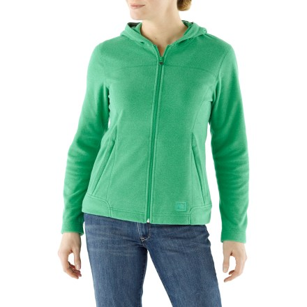 Camp and Hike Easy-wearing, cozy fleece comfort is yours to enjoy with the lightweight Wilds Hoodie jacket from REI. - $23.83