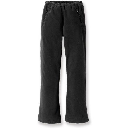 The REI Frosty Fleece pants sport silky-soft microfleece and a simple, non-bulky fit that is perfect for active girls' outdoor pursuits. - $13.83