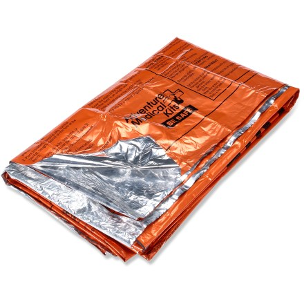 Camp and Hike Don't get left out in the cold. The SOL survival blanket reflects up to 90% of your body's heat back to you and is sized to shelter 1 - 2 adults. - $7.00