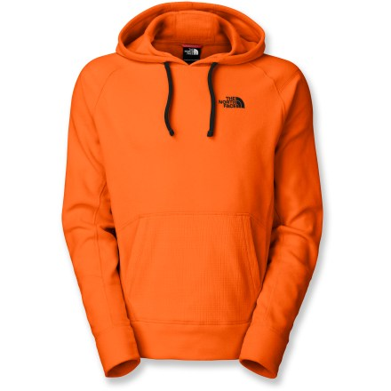 The serious part of your day is over, and now it's time to wind down in the plush Polartec(R) fleece of The North Face TKA 100 Claw Fleece Hoodie. Textured Polartec 100-weight fleece is soft, lightweight, quick drying and very breathable. Drawcord hood; kangaroo pocket. Closeout. - $40.73