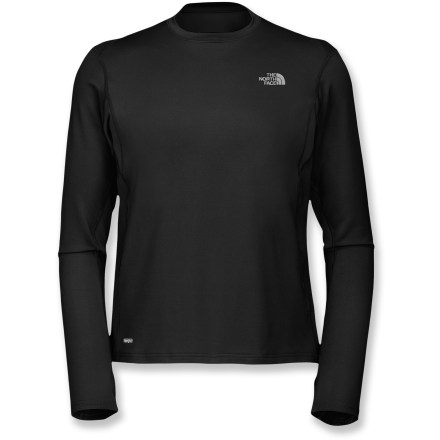 Fitness If you're a runner, you'll appreciate the performance features that make The North Face Impulse T-shirt a solid year-round running top. It also works great as a base layer. VaporWick(R) stretch polyester fabric blend offers 4-way stretch, wicks moisture away from skin and dries quickly. Breathable knit panels in high heat-zones (underarms, back) provide optimal ventilation where you need it most. Thumbholes keep sleeves in place and hands warm. The North Face Impulse T-shirt has reflective highlights to increase your visibility in low light. From the Flight Series(TM), developed by The North Face and tested by outdoor athletes; designed for done-in-a-day and weekend adventures. Closeout. - $36.93