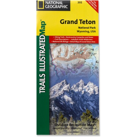 Ski This informative Trails Illustrated map will help you plan trips and explore the area in and around Wyoming's Grand Teton National Park. - $11.95
