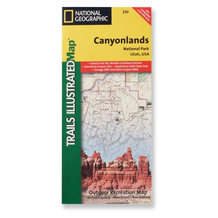 Camp and Hike This National Geographic Trails Illustrated folded map offers comprehensive coverage of the Needles/Isle areas of Canyonlands National Park in Utah. - $11.95
