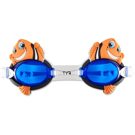 Fitness The TYR CharacTYRs Happy Fish goggles add fun color and cute character to your kid's swimming lessons or splashy summertime fun. - $1.83