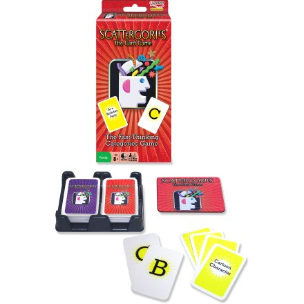 Camp and Hike Enjoy the fast-thinking fun of the Scattergories card game in a convenient and portable format! 2 decks form countless combinations of categories and letters to make each game unique. - $12.00