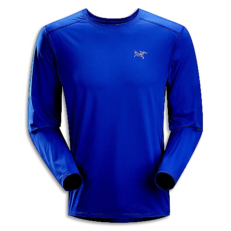 Free Shipping. Arcteryx Men's Ether LS Crew DECENT FEATURES of the Arcteryx Men's Ether Long Sleeve Crew Durable Helius fabric wicks body moisture and is comfortable next-to-skin Mesh underarm and side panels aid in venting Gusseted underarms provide no-lift comfort Flat locked seams reduce chafing UPF 50+ We are not able to ship Arcteryx products outside the US because of that other thing. We are not able to ship Arcteryx products outside the US because of that other thing. We are not able to ship Arcteryx products outside the US because of that other thing. The SPECS Fit: Athletic, hip length Weight: M: 5.3 oz / 149 g Helius -100% polyester Viente - 100% polyester This product can only be shipped within the United States. Please don't hate us. - $68.95