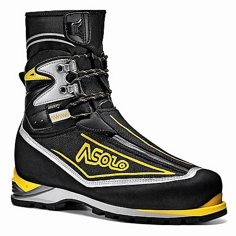 Free Shipping. Asolo Men's Eiger GV DECENT FEATURES of the Asolo Men's Eiger GV Upper: High resistance polyamide fabric + microfiber Gaiter: SuperFabric Technical Fabric Lining: Gore-Tex Duratherm Asoframe: Carbon + Kevlar Anatomic Footbed: Lite 3 Sole: Vibram 1229 Mulaz + Dual-density micro porous midsole + PU Dual Integrated System insert Fit: MM Weight: 1/2 pair: 805 grams The SPECS Upper: High resistance polyamide fabric + microfiber Lining: Gore-Tex Duratherm Asoframe: Carbon + Kevlar Anatomic footbed Lite 3 Sole: Vibram 1229 Mulaz + Dual-density microporous midsole + PU Dual Integrated System insert Weight: Gr 805 (1/2 pair size 8.5 US) - $499.95