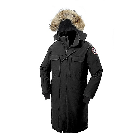 Hunting Free Shipping. Canada Goose Men's Westmount Parka DECENT FEATURES of the Canada Goose Men's Westmount Parka Knee-length provides superior coverage for extremely cold and windy environments Removable Coyote fur ruff surrounding a 1-way adjustable tunnel hood (vertically), with an adjustable bracing wire for superior protection in high-wind conditions Heavy-duty, centre front YKK 2-way locking zipper, secured with both hidden snaps and Velcro at the bottom for ease of movement Two oversized Napoleon chest pockets with zipper closure for security Two chest drop-in pockets with hidden snap closure Two lower fleece-lined hand warmer pockets Utility pocket with penholder on left sleeve Four interior pockets: inside upper left security pocket with zipper closure and a lower left drop-in pocket Recessed, heavy-duty, rib-knit cuffs to keep out the cold The SPECS Centre Back Length: 45in. / 114.3 cm Fill Power: 625 fill power white Duck down Fit: Relaxed Insulated Coyote Ruff Fur: Removable This product can only be shipped within the United States. Please don't hate us. - $894.95