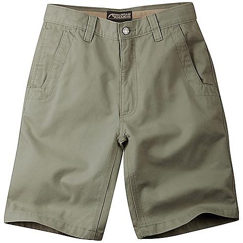 Ski Free Shipping. Mountain Khakis Men's Teton Twill Short DECENT FEATURES of the Mountain Khakis Men's Teton Twill Short 8.5 oz 100% Cotton Twill 5 Pockets Welt Back Pockets with Coconut Button Closure YKK Zipper Inseam Action Gusset Triple-Stitched Seams Garment Washed Mid-Rise, Relaxed Fit The SPECS Waist: 28-44 E, 31-35 O Inseam: 10in. - $59.95