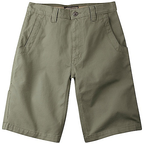 Features of the Mountain Khakis Men's Alpine Utility 11IN Short 5 Pockets + Utility Pocket Patch Back Pockets Inseam Action Gusset YKK Zipper Triple-Stitched Seams Garment Washed - $64.95