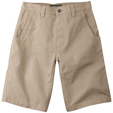 Features of the Mountain Khakis Men's Alpine Utility 9IN Short 5 Pockets + Utility Pocket Patch Back Pockets Inseam Action Gusset YKK Zipper Triple-Stitched Seams Garment Washed - $64.95