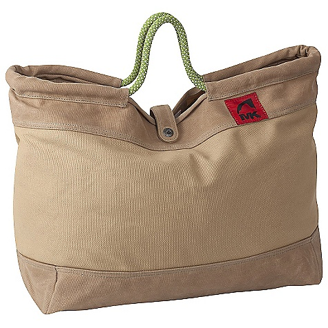 Climbing Free Shipping. Mountain Khakis Market Tote Bag DECENT FEATURES of the Mountain Khakis Market Tote Bag Classic Silhouette Recycled Climbing Rope Handles Flap Closure with MK Rivet Snap Interior Organization Panel Key Lanyard Red Flag MK Label The SPECS Volume: 32.9 liter Dimension: (H x W x D): 13 x 19 x 6in. Body: 20 oz Canvas, 18 oz Waxed Canvas - $59.95