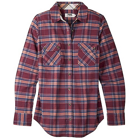 Free Shipping. Mountain Khakis Women's Peaks Flannel Shirt DECENT FEATURES of the Mountain Khakis Women's Peaks Flannel Shirt 5.7 oz 88% Polyester/10% Wool/2% Lycra Chest Pockets with 2-Button Closure Shaping Darts at Chest Contrast Plaid Trim on Collar Stand and Side Gussets MK Lasso Branded Metal Plate Garment Washed Casual Fit, Feminine Flair - $89.95