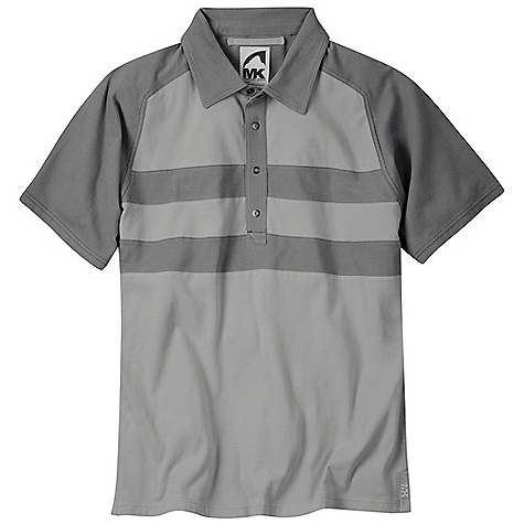 Free Shipping. Mountain Khakis Men's Fairway Polo Shirt DECENT FEATURES of the Mountain Khakis Men's Fairway Polo Shirt 5.8oz, 60% Cotton, 40% Recycled Polyester Jersey As Many as 20 Recycled Plastic Bottles Per Garment 4 Custom Ring Snaps Split Tail Hem Raglan Sleeves Self Fabric Collar Garment Washed Casual Fit - $59.95