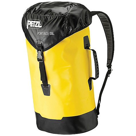 Climbing Free Shipping. Petzl Portage Pack DECENT FEATURES of the Petzl Portage Pack Padded shoulder straps for comfortable carriage Upper flap with inside identification card pocket Welded construction for greater strength (PVC free) Cordlock closure easy to manipulate, designed for difficult environments Side and top handles for carrying by hand Upper loop for hauling Inside loop for suspending pack in open position The SPECS Weight: 850 g Case Quantity: 10 Height: 65 cm Volume: 30 liter Material(s): Polyester, polyurethane, nylon, polyethylene, EVA foam, aluminum, brass ALL CLIMBING SALES ARE FINAL. - $125.95