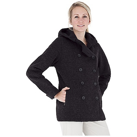 Entertainment Free Shipping. Royal Robbins Women's Urban Pea Coat DECENT FEATURES of the Royal Robbins Women's Urban Pea Coat Zip front covered button placket Rotated side seams Fleece lined Secured document pocket Zip secured hand warmer pockets The SPECS Natural fit Length: 29in. Fabric: Kaden Bonded Knit - $159.95