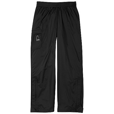 Sierra Designs Youth Hurricane Pant DECENT FEATURES of the Sierra Designs Youth Hurricane Pant Fully-Taped PVC-Free Seams One Thigh Pocket Lower Leg Vent with Storm Flap Unisex Fit The SPECS Inseam: (L): 27in. Weight: 6 oz Shell: Hurricane 2L: 100% Nylon Ripstop - $42.50