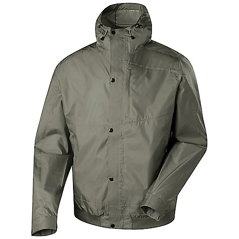 Free Shipping. Sierra Designs Men's Sleuth Jacket DECENT FEATURES of the Sierra Designs Men's Sleuth Jacket Critical-Taped PVC-Free Seams Two Zipper Hand Pockets, One Chest Pocket One Zip Pocket With Earphone Portal Attached, Adjustable Hood Polyester Rib Knit Hem Fully Lined The SPECS Center Back Length: (L): 28 1/2in. Shell: Storm 100% Polyester - $98.95