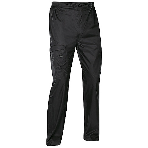 Free Shipping. Sierra Designs Men's Hurricane Pant DECENT FEATURES of the Sierra Designs Men's Hurricane Pant Fully-Taped PVC-Free Seams One Zipper Thigh Pocket Articulated Knees Lower Leg Vent with Storm Flap Includes Stuff Sack The SPECS Inseam: short: 29in., regular: 31in. Weight: 7 oz Shell: Hurricane 2L: 100% Nylon Ripstop, DWR - $53.95