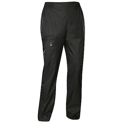 Free Shipping. Sierra Designs Women's Hurricane Pant DECENT FEATURES of the Sierra Designs Women's Hurricane Pant Fully-Taped PVC-Free Seams One Zipper Thigh Pocket Articulated Knees Lower Leg Vent with Storm Flap Includes Stuff Sack The SPECS Inseam: short: 29in., regular: 31in. Weight: 7 oz Shell: Hurricane 2L: 100% Nylon Ripstop, DWR - $53.95