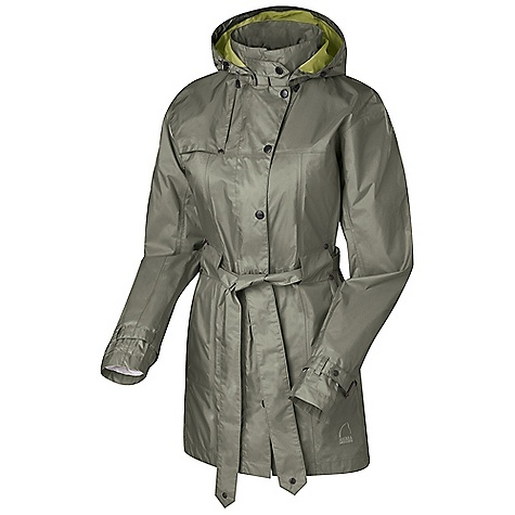 Free Shipping. Sierra Designs Women's Clandestine Trench DECENT FEATURES of the Sierra Designs Women's Clandestine Trench Fully-Taped PVC-Free Seams Two Zipper Hand Pockets Removable, Tie Waist Belt One Interior Zip Pocket , One Dump Pocket Stowable and Adjustable, Zip-Off Hood The SPECS Center Back Length: (M): 32in. Shell: Hurricane 2L 100% Nylon Ripstop - $138.95