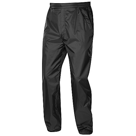 Sierra Designs Men's Microlight Pant DECENT FEATURES of the Sierra Designs Men's Microlight Pant Two Zippered Hand Pockets Gusseted Crotch Includes Stuff Sack Waistband with Elastic Panels and Draw Cord Adjustment Elasticized Cuff The SPECS Inseam: short: 30 1/2in., regular: 32 1/2in. Weight: 7.5 oz Shell: Microlight: 100% Polyester - $36.95