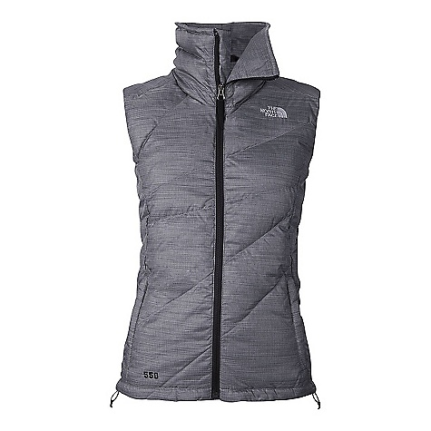 On Sale. Free Shipping. The North Face Women's Bella Vest DECENT FEATURES of The North Face Women's Bella Vest Tall collar with brushed chin guard zips to cover lower face Two brushed tricot-lined, secure-zip hand pockets Hem cinch-cord The SPECS Average Weight: 16.05 oz / 455 g Center Back Length: 25in. Body: 50D 82 g/m2 (2.89 oz/yd2) 100% polyester Insulation: 600 fill goose down This product can only be shipped within the United States. Please don't hate us. - $88.99