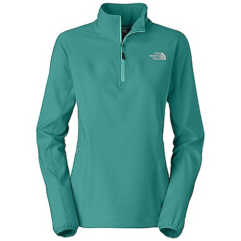 Free Shipping. The North Face Women's Nimble Zip Shirt DECENT FEATURES of The North Face Women's Nimble Zip Shirt TNF Apex Aerobic fabric, the most stretchable of all Apex fabrics, and wind permeability rated at 10-15 CFM Quarter-length center front zip Lower hip stash pocket Elastic-bound cuffs Hem cinch-cord The SPECS Average Weight: 15 oz / 420 g Center Back Length: 25in. 90D 246 g/m2 (8.68 oz/yd2) 90% polyester, 10% elastane four-way stretch TNF Apex Aerobic soft shell with DWR This product can only be shipped within the United States. Please don't hate us. - $69.95