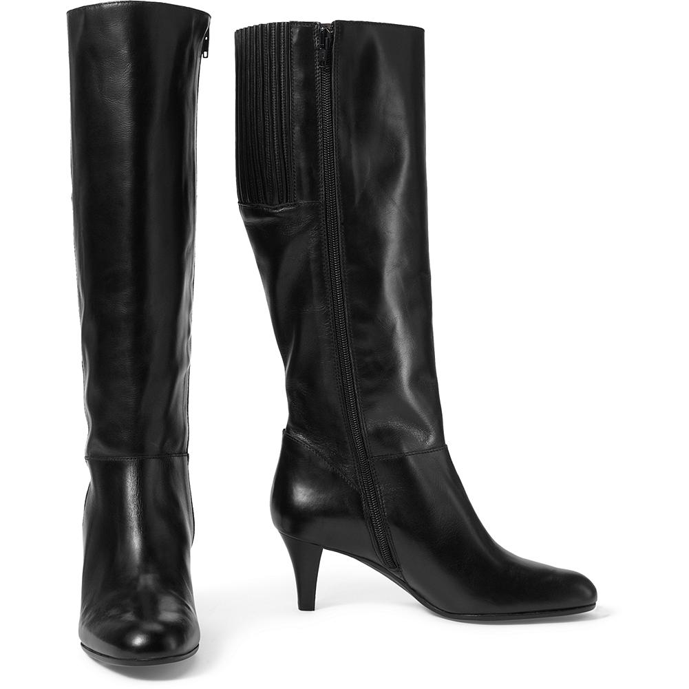 Entertainment Eddie Bauer Tall Dress Boots - These sleek, stylish boots are handmade in Italy from supple waxed leather with elasticized goring at the back of the calf for an easier fit. 15-inch side zipper for effortless on/off. Imported. - $239.00