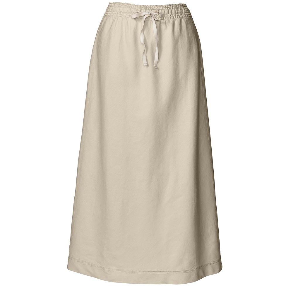 "Eddie Bauer Linen/Cotton Skirt - Lightweight, comfortable and easy to love. A-line style with a slightly elastic drawcord waist. Length: 37"". Imported. - $14.99"