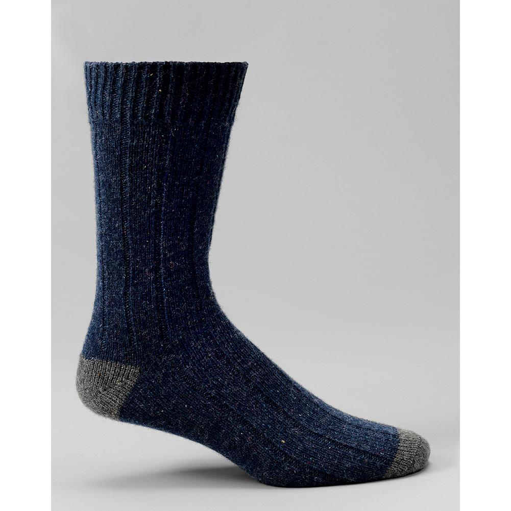 Entertainment Eddie Bauer Nep Crew Socks - Tiny flecks of color add texture and interest to our wool-blend crew socks. Contrasting heel and toe. Imported. - $6.99