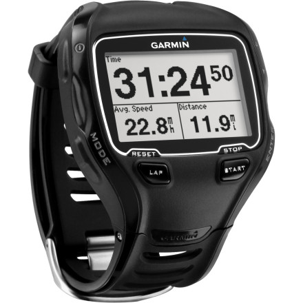 Fitness Garmin's Forerunner 910XT is a series of firsts. Never before have you been able to track all of your vital metrics across all three disciplines with one device. Now, from the water to the road, the Forerunner 910XT will provide you with all of the valuable training and race data that you need in order to elevate your fitness and results. Starting with the most necessary feature for the swim, the 910XT is water-resistant up to 50 meters in depth and is suitable for both open waters and pools. And with the customizable display, you can view metrics like distance, efficiency, stroke identification, stroke count, and for indoor training, pool lengths. All of this data is available in real time, and for race recon and training, the path analyzation feature will prove invaluable in the war room. This metric allows you to capture your path for viewing in Garmin Connect afterwards. So, you can analyze your output, stroke by stroke, along the entire path of your swim. Once you go through T1 and get into the saddle, you'll be able view your distance and speed. And with the 910XT's barometric altimeter, you can also view your degree of gradient, total ascent, and total descent. Even better, if you're training or racing with multiple systems in place, the 910XT is compatible with ANT+ sensors. So, you can share data with your CPU of choice, powermeters, and even Garmin's new Vector pedal-based powermeter system. Syncing with devices like these will further the importance of your metrics by allowing you to view your power output and cadence. On the running segment, Garmin has provided metrics for distance and pace. You also have the ability to set vibration alerts in order to remind you to get some nutrition in or to hit a split. Additionally, you can sync the 910XT wirelessly to any ANT+ compatible heart rate monitor for even more crucial data. - $399.95